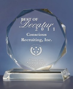 2011 Best of Decatur Award in the Executive Search and Training Consultants
